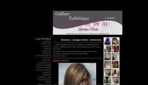 Le site web de Laetitia avant la refonte : L'information est là...